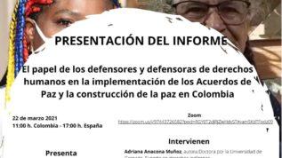 Informe de defensa de los derechos humanos en Colombia