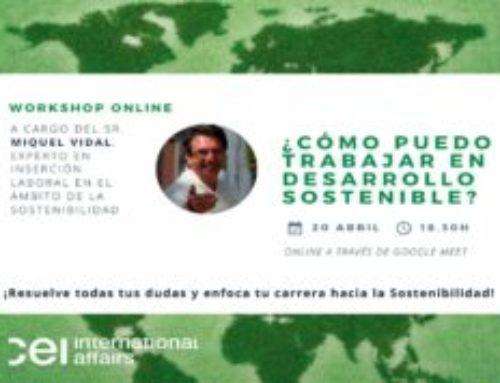 Taller sobre opciones laborales en desarrollo sostenible