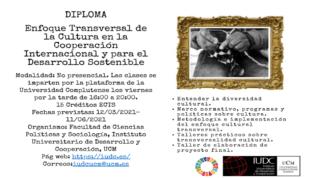 Diploma virtual sobre cultura y desarrollo sostenible