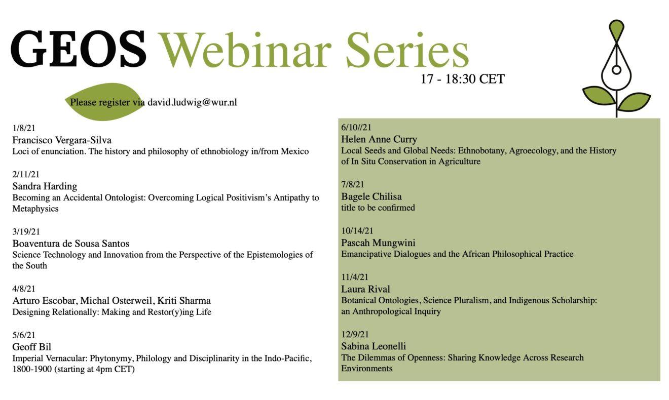 Seminario sobre ciencia, tecnología y epistemologías del sur