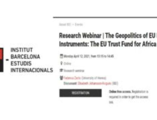 Seminario sobre migración y geopolítica en la Unión Europea