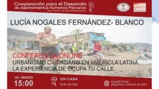 Conferencia sobre urbanismo ciudadano en América Latina