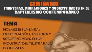 Seminario sobre deportaciones, cultura, subjetividades y teletrabajo