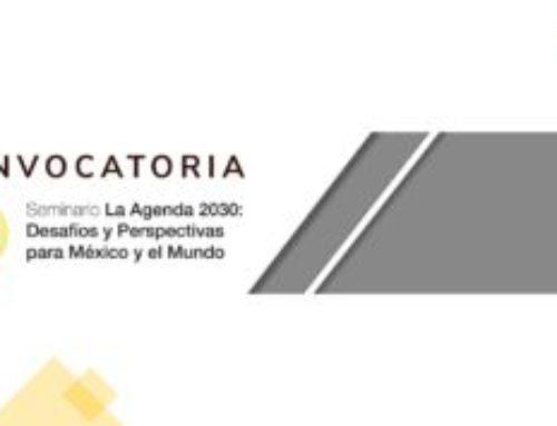 Seminario sobre Agenda 2030 en México y el mundo